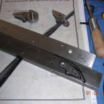 Lockplate layout for bridle - lockplate drill jig lower