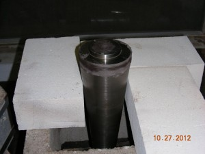 Flask assembled for brazing